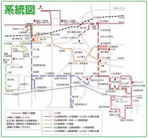 じょうとんバス路線図